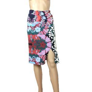 Anthropologie | Maeve floral side slit skirt